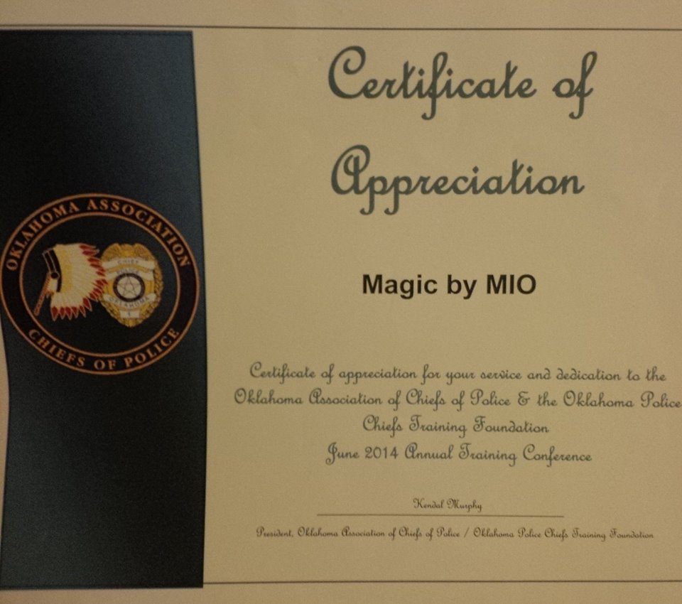 Certificate Of Appreciation Magic By Mio