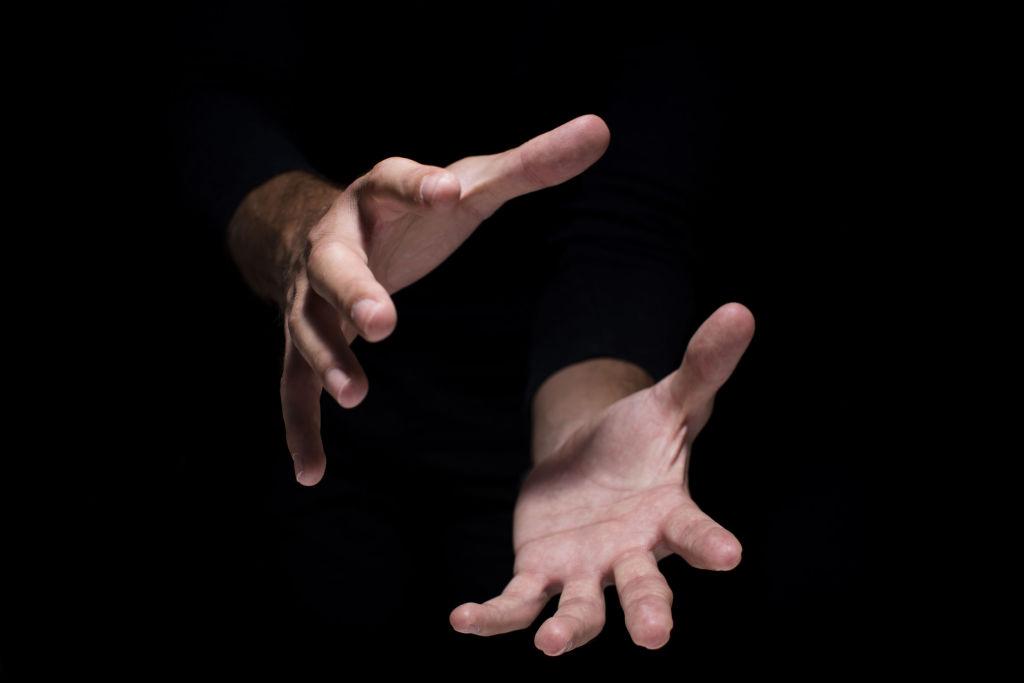close up magic hands