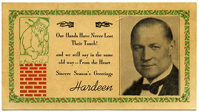 Hardeen's Christmas card