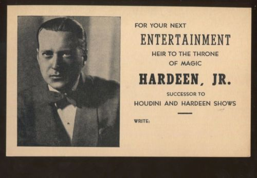Hardeen Jr. Business Card