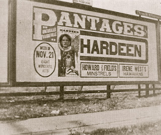 Billboard advertising a Hardeen performance