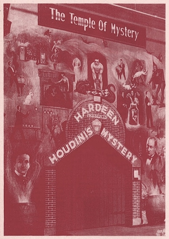 Hardeen Presents Houdini's temple of Mystery