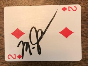 Michael Jordan's signature in one of Mio's Game Cards