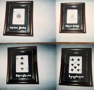 Framed cards - Michael Jordan, Wayne Gretzky, Mark Recci, Lynn Swann